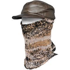 Raf Simons Digital Camouflage Knit & Nylon Balaclava Hat 2002-03