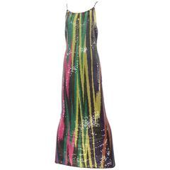 Vintage MISSONI multi color sequin knit dress