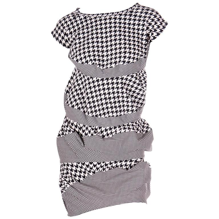 Junya Watanabe for Comme Des Garcons Houndstooth Dress 1