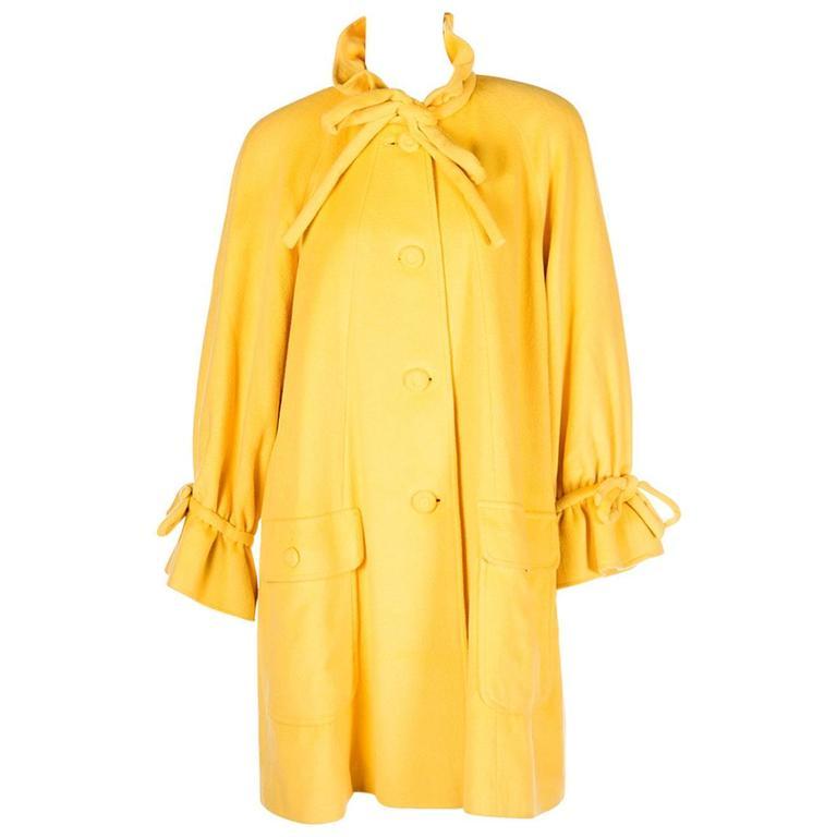 Karl Lagerfeld Bold Yellow Trapeze Coat 1