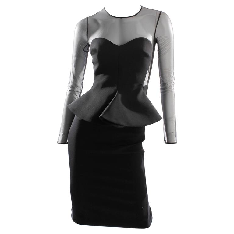 Stella McCartney Peplum Dress - black