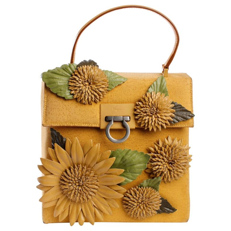 Salvatore Ferragamo Bag - yellow/flowers 1
