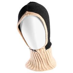 Chanel Balaclava Hat - grey/beige cashmere
