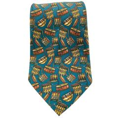 Salvatore Ferragamo 'Drums' Silk Tie