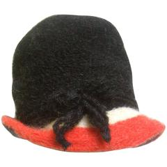 Yves Saint Laurent Stylish Wool Knit Hat c 1970