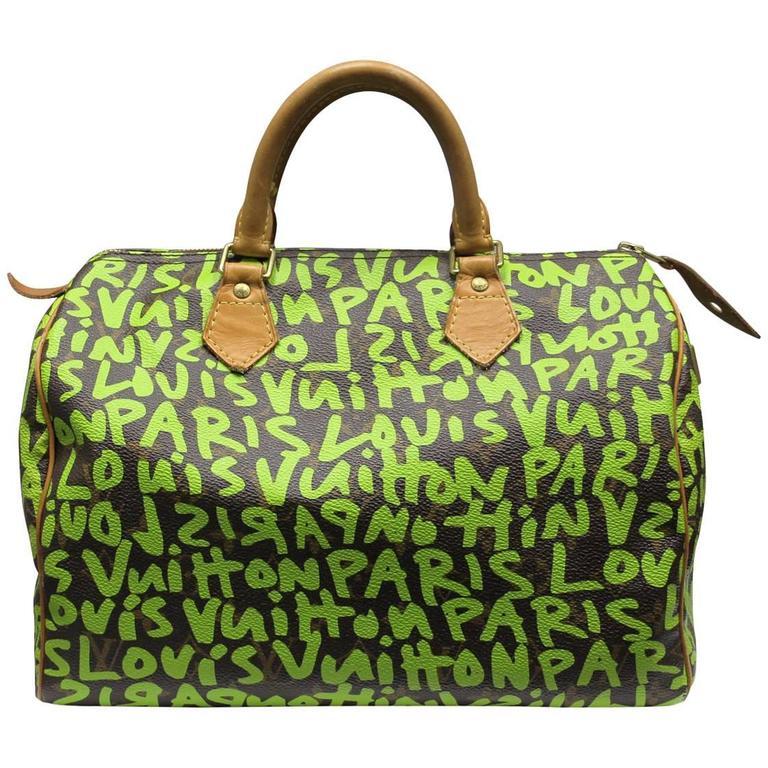 2b57b4e7aeb7 Louis Vuitton Stephen Sprouse Speedy 30 Graffiti Handbag in Box For Sale