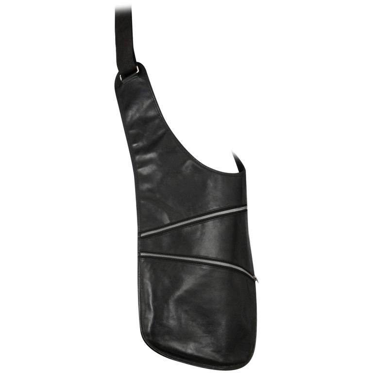 Martin Margiela Black Saddle Sac 1998 For Sale