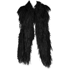 Martin Margiela Black Feather Vest 1997-98