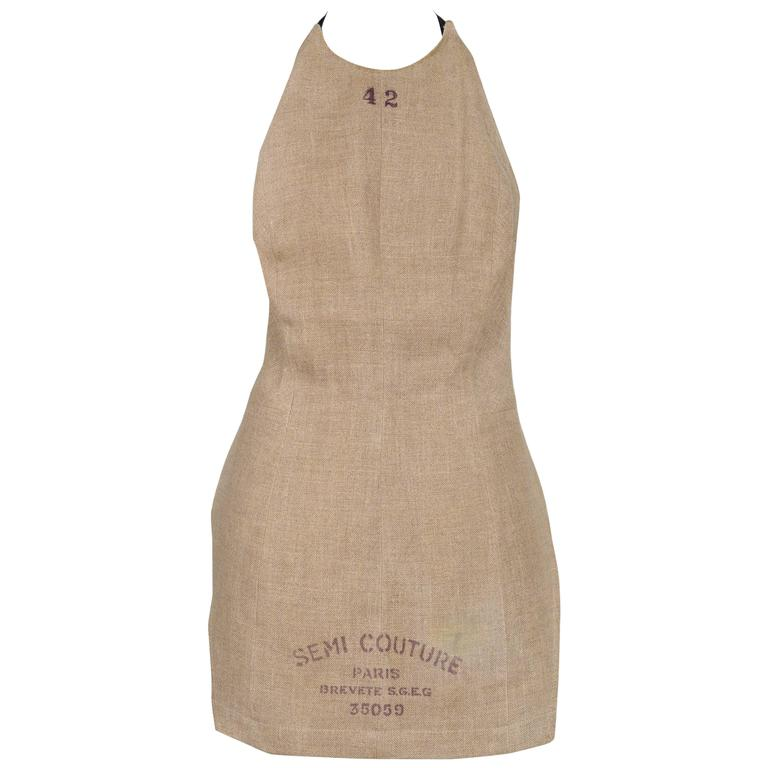 Martin Margiela Semi Couture Apron 1997 For Sale