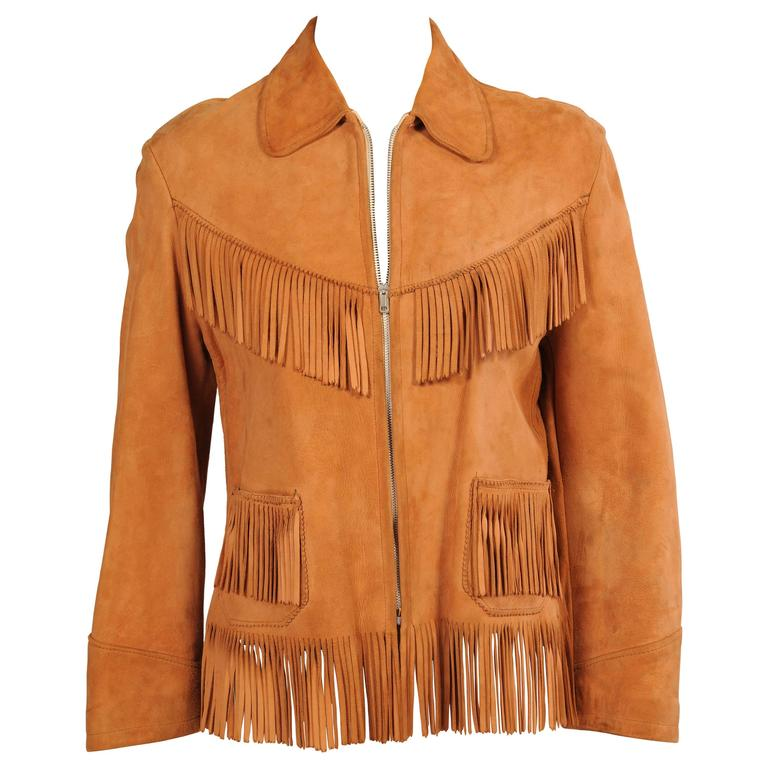 K Bar Z Fringed Suede Jacket