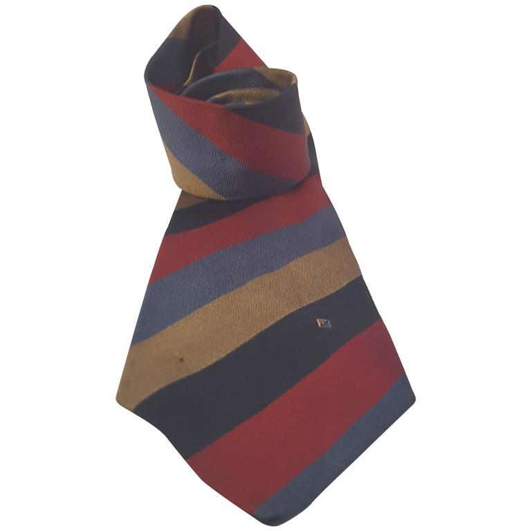 Ties On Sale, Light Yellow, Silk, 2017, one size Fendi