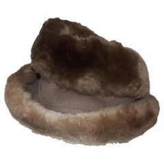 Ultra Stylish 1940's Rose Kraysler Sheared Beaver Fur Hat
