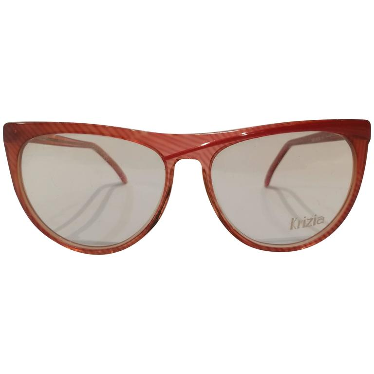 Krizia vintage red frame glasses