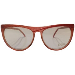 Krizia vintage red frame glasses