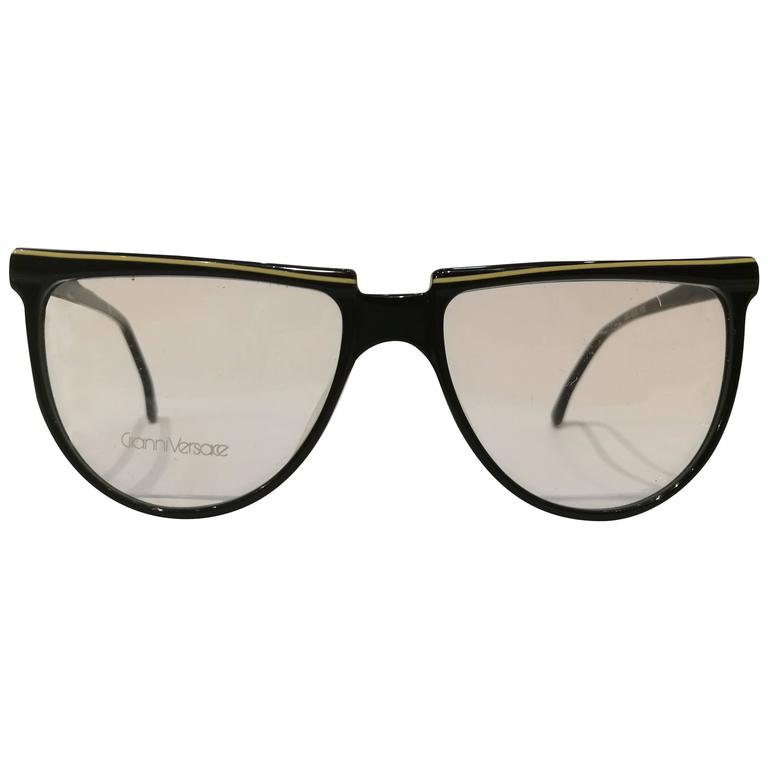 Gianni Versace black frame glasses For Sale at 1stdibs