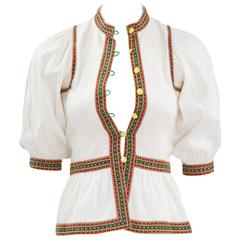 Very Rare Yves Saint Laurent Peasant Top, Spring-Summer 1977