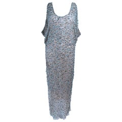 Heike Jarick Weathered Paillettes Full Length Dress Size 12
