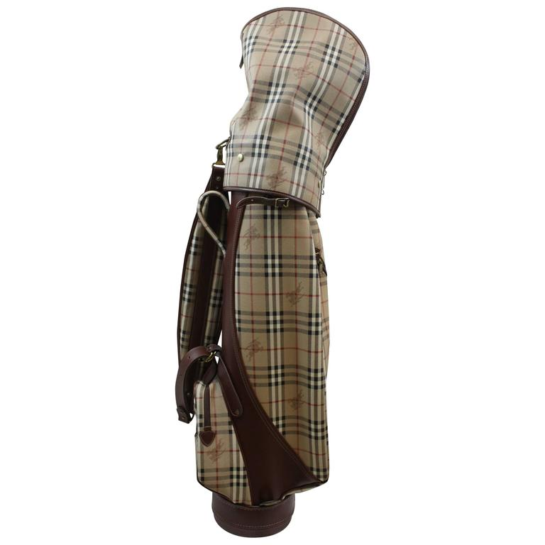 Vintage Burberry Check Pattern Golf Bag