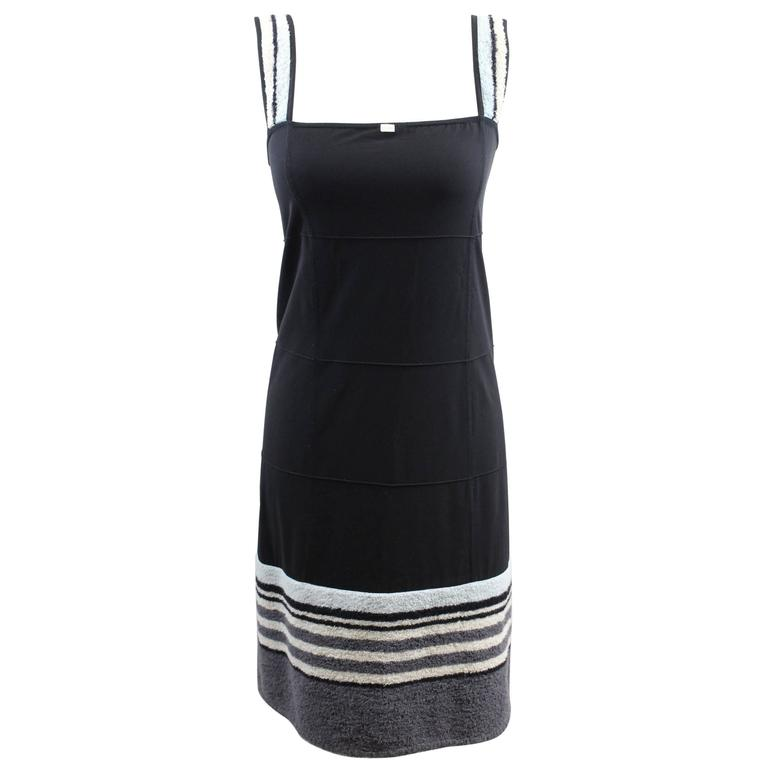 Chanel Summer Nylon Black Dress