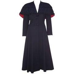 1940's Eisenberg Victorian Style Capelet Princess Coat