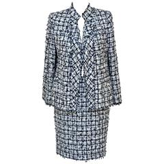 CHANEL Haute Couture Beaded Sequence Embellished  Tweed  Suit   Mint