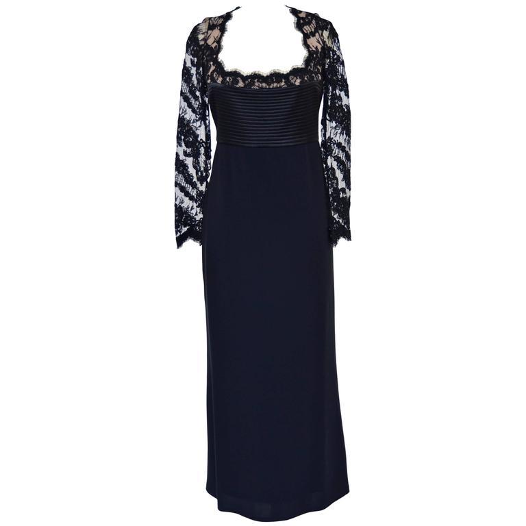 Badgley Mischka Black Lace Dress  Mint  1