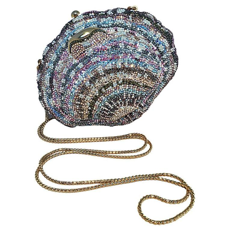 Judith Leiber Swarovski Crystal S Minaure Evening Bag For