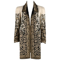 COUTURE c.1910's Edwardian Museum Piece Embroidered Cutwork Lace Jacket Coat