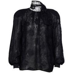 Vintage Valentino Black Lace Blouse.