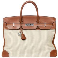 Hermes Birkin 40 Ivory Crinolin/Barenia Leather