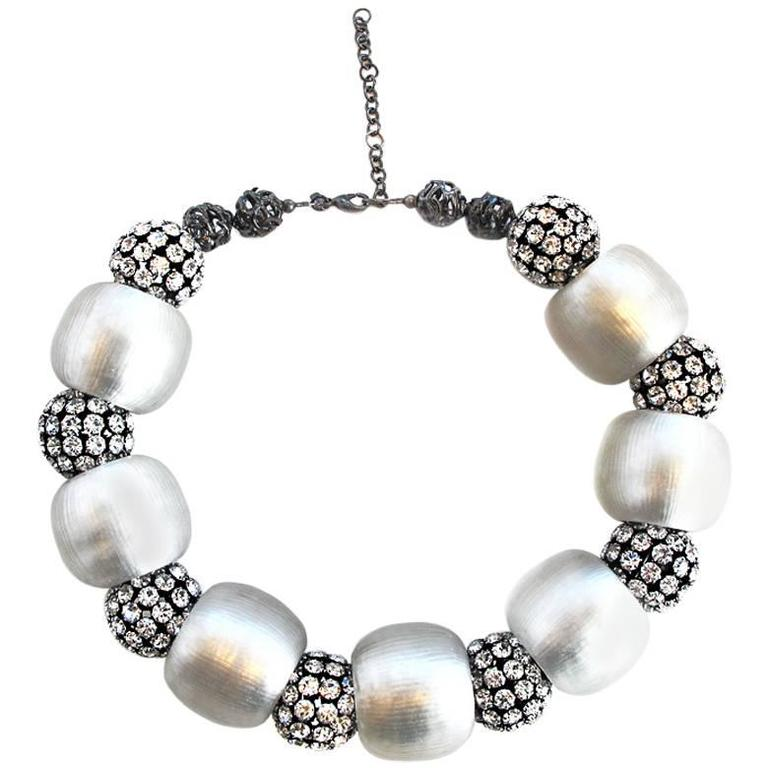 Alexis Bittar 2009 Holiday Collection: Gunmetal Lucite Necklace 1
