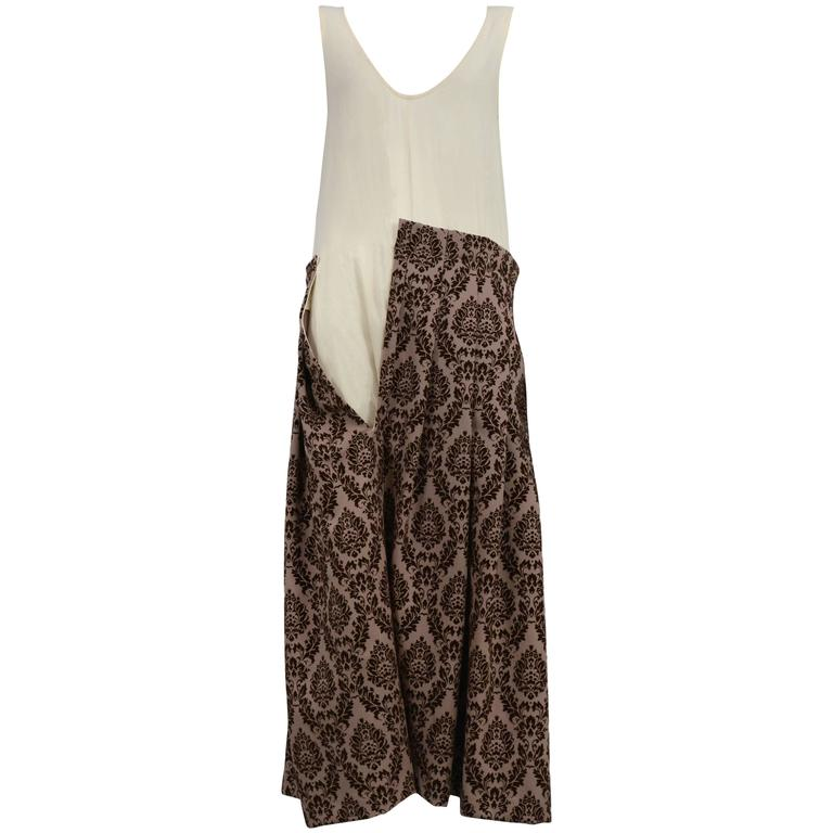 Comme des Garcons Muslin & Brown Velvet Gown 1996