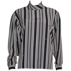 Nina Ricci Paris Black and White Blouse