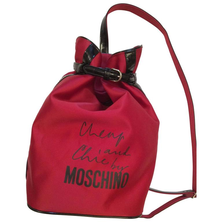 New Moschino Cheap and Chic Backpack / Purse