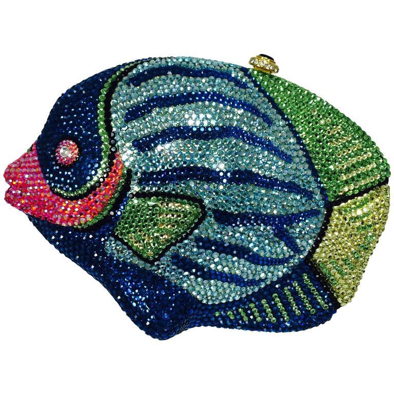 1stdibs Kathrine Baumann Beverly Hills Crystal Jeweled Angel Fish Minaudière GlGFX