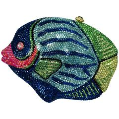 Kathrine Baumann Beverly Hills Crystal Jeweled angel fish minaudière