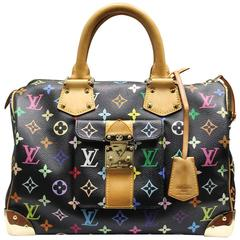Louis Vuitton Murakami Speedy 30 Black Multicolor Handbag in Box