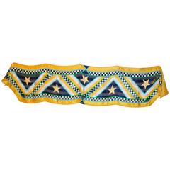 "Bob Mackie Whimsical ""Stars & Stripes"" Multi-Color Silk and Chiffon Scarf"