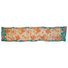 Oscar de la Renta Bold Colorful Floral Silk Scarf