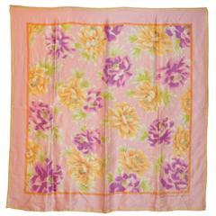 Adrienne Vittadini Multi Color Floral Silk Scarf