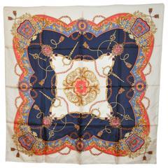 "Majestic ""Royal"" Theme Multi Color Silk Scarf"