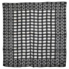 Vera Black & White Abstract Scarf