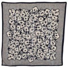 Liz Claiborne Black & White Floral Silk Scarf