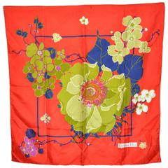 Christian Dior Wonderful Bold Floral Silk Scarf