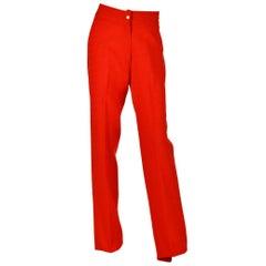 Roberta di Camerino Vintage Red Wool Trousers