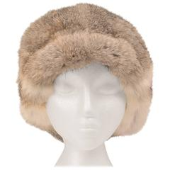 1960s Adolfo II Fur Hat with Hip Fur Bill