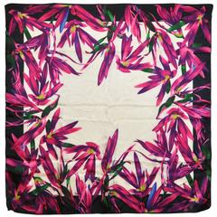 Anne Klein Bold Multi Floral Abstract Silk Scarf