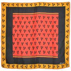 Burmel Multi-Color Floral Silk Scarf