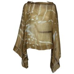 Yves St Laurent by Tom Ford silk Antelope print poncho Mombassa collection 2002