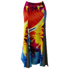 Important Gianni Versace Couture Pop Art Maxi Skirt Spring 1991